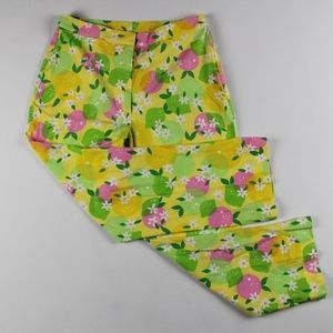 Lilly Pulitzer Orange Blossom Cropped Pants Size 2